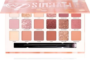 W7 Cosmetics Socialite paleta farduri de ochi