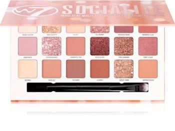 W7 Cosmetics Socialite paleta očních stínů