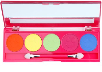 W7 Cosmetics Neon Eyes paleta de sombras de ojos con espejo y aplicador