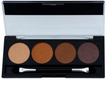 W7 Cosmetics Toasted paleta de sombras  com aplicador