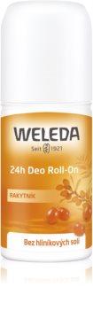 Weleda Sea Buckthorn deodorante roll-on senza sali di alluminio con protezione 24 ore