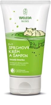 Weleda Kids Cheerful Lime crème de douche et shampoing pour enfant 2 en 1