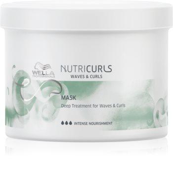 Wella Professionals Nutricurls Waves & Curls masque lissant pour cheveux bouclés et frisé