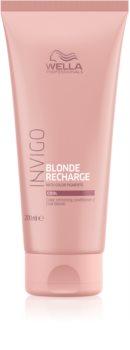 Wella Professionals Invigo Blonde Recharge балсам за съживяване на коса в руси тонове.