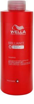 Wella Professionals Brilliance shampoing pour cheveux rêches et colorés