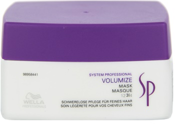 Wella Professionals SP Volumize máscara para cabelo fino e sem volume
