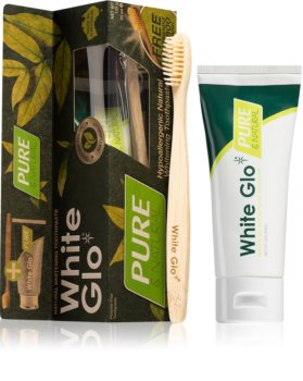 White Glo Pure Natural Kit pentru albirea dinților