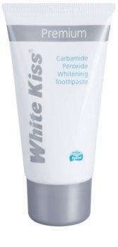 White Kiss Premium dentífrico branqueador para reforçar o esmalte dentário