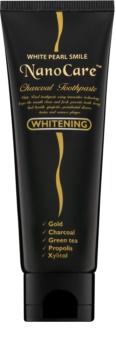 White Pearl NanoCare Whitening dentífrico com nanopartículas de ouro e carvão ativo