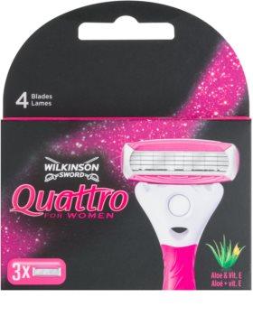 Wilkinson Sword Quattro for Women Aloe & Vit. E lames de rechange