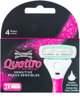 Wilkinson Sword Quattro for Women Sensitive recarga de lâminas