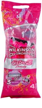 Wilkinson Sword Extra 3 Beauty Kertakäyttöiset Partaterät 4 kpl