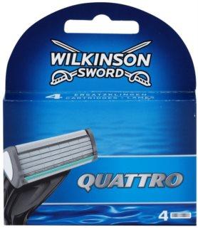 Wilkinson Sword Quattro recarga de lâminas 4 pçs