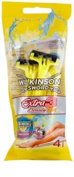 Wilkinson Sword Extra 3 Beauty Sun lâminas descartáveis 4 un.