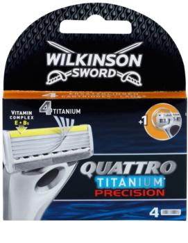 Wilkinson Sword Quattro Titanium Precision tartalék pengék 4 db