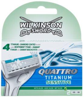Wilkinson Sword Quattro Titanium Sensitive recarga de lâminas