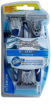 Wilkinson Sword Quattro Titanium eldobható borotva 3 db