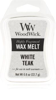 Woodwick White Teak cera per lampada aromatica