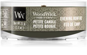 Woodwick Evening Bonfire mala mirisna svijeća bez staklene posude s drvenim fitiljem