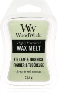 Woodwick Fig Leaf & Tuberose cera per lampada aromatica