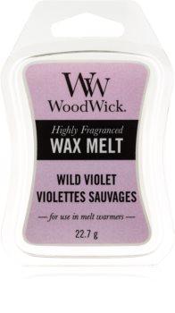 Woodwick Wild Violet tartelette en cire
