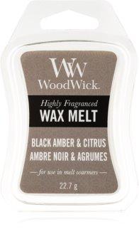 Woodwick Black Amber & Citrus cera para lámparas aromáticas