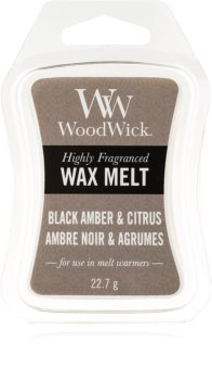 Woodwick Black Amber & Citrus віск для аромалампи