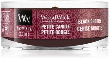 Woodwick Black Cherry mala mirisna svijeća bez staklene posude s drvenim fitiljem