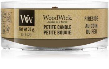 Woodwick Fireside mala mirisna svijeća bez staklene posude s drvenim fitiljem
