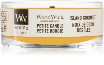 Woodwick Island Coconut sampler z drewnianym knotem
