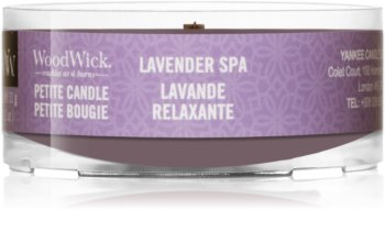 Woodwick Lavender Spa bougie votive avec mèche en bois