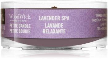 Woodwick Lavender Spa Votivkerze  mit Holzdocht