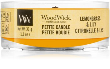 Woodwick Lemongrass & Lily votive candle Wooden Wick