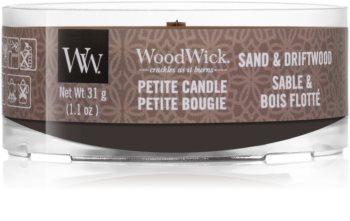 Woodwick Sand & Driftwood votivní svíčka s dřevěným knotem