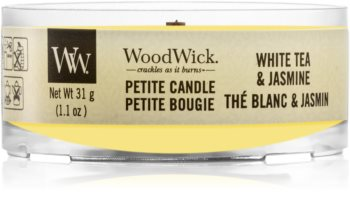 Woodwick White Tea & Jasmine bougie votive avec mèche en bois