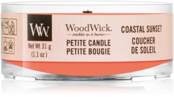 Woodwick Coastal Sunset votive candle Wooden Wick