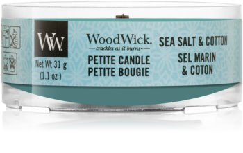 Woodwick Sea Salt & Cotton votive candle Wooden Wick