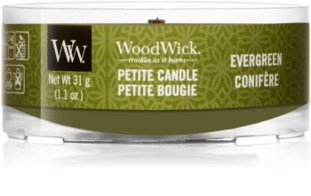 Woodwick Evergreen sampler z drewnianym knotem