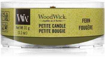 Woodwick Fern votivna sveča z lesenim stenjem