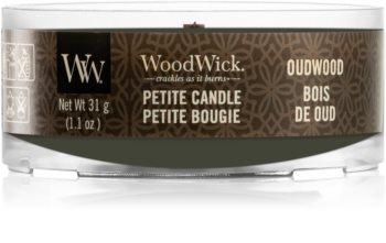 Woodwick Oudwood viaszos gyertya fa kanóccal