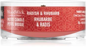 Woodwick Radish & Rhubarb sampler z drewnianym knotem