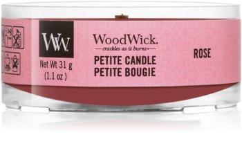 Woodwick Rose mala mirisna svijeća bez staklene posude s drvenim fitiljem