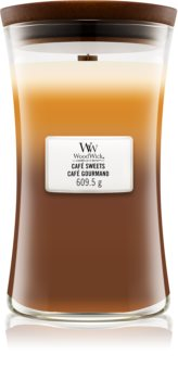Woodwick Trilogy Café Sweets scented candle Wooden Wick