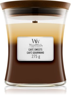 Woodwick Trilogy Café Sweets duftlys Trævæge