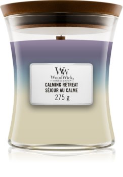 Woodwick Trilogy Calming Retreat scented candle Wooden Wick