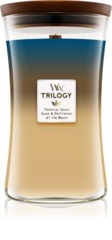 Woodwick Trilogy Nautical Escape lumânare parfumată  cu fitil din lemn