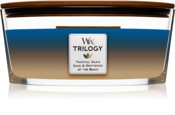 Woodwick Trilogy Nautical Escape scented candle wooden wick (hearthwick)