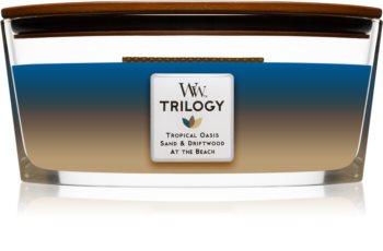 Woodwick Trilogy Nautical Escape świeczka zapachowa  z drewnianym knotem (hearthwick)