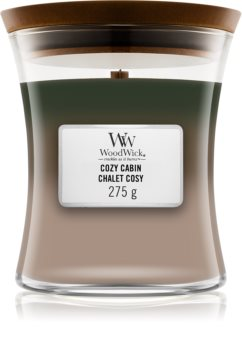 Woodwick Trilogy Cozy Cabin scented candle Wooden Wick
