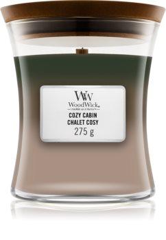 Woodwick Trilogy Cozy Cabin świeczka zapachowa  z drewnianym knotem